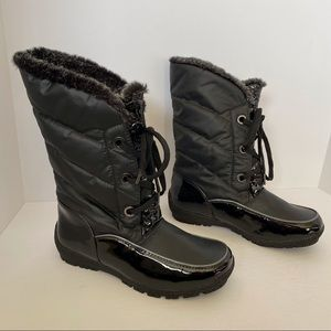 Sporto Charles Waterproof Black Winter Snow Boot